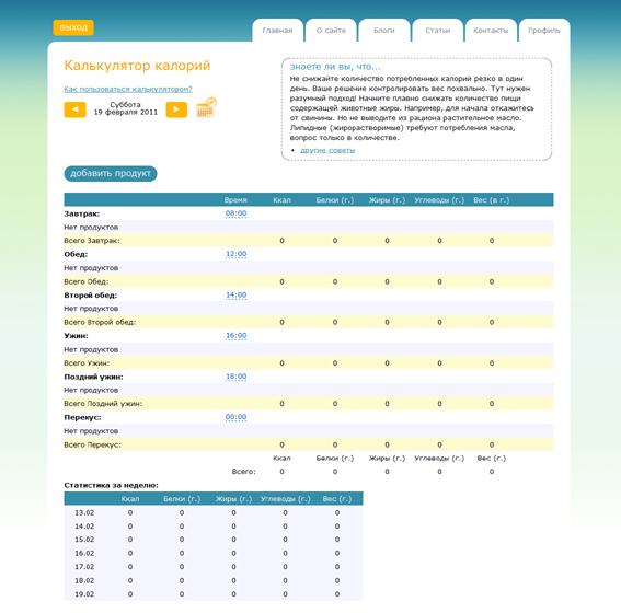 программа для подсчета калорий онлайн - фото 4